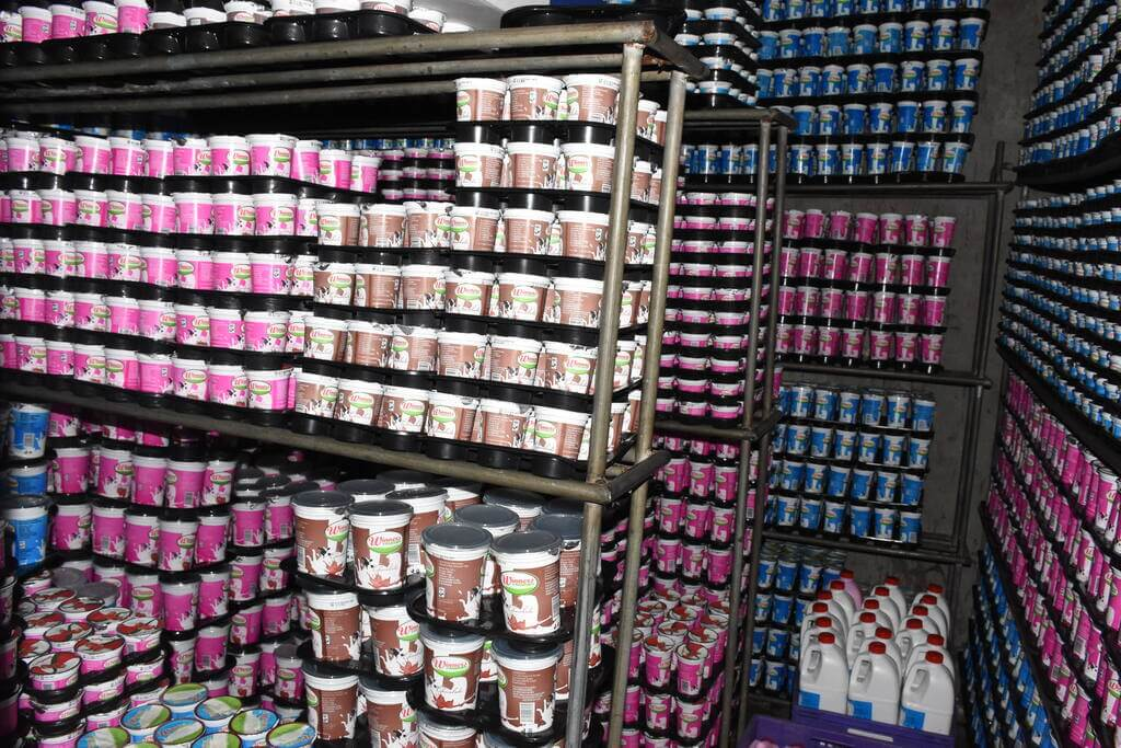 Yoghurt Products in Coolant Ready for Delivery